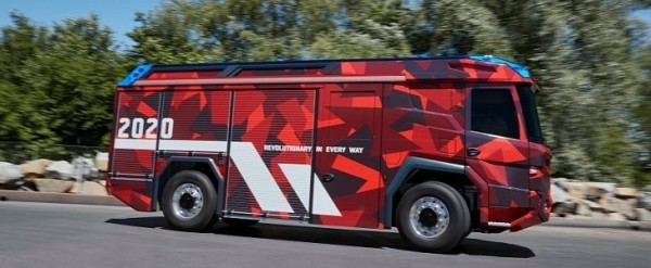 The Volvo Powered Electric Fire Truck Becomes Hybrid Bmw Gets Involved Autoevolution