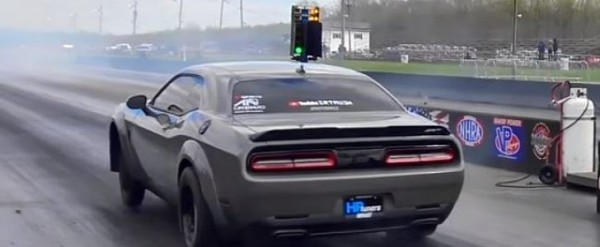 Tuned Dodge Demon Pulls 9 33s 1 4 Mile Pass For A New Record