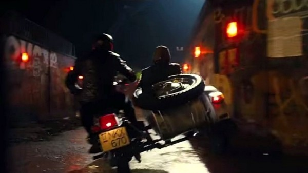 Ural Sidecars Performing Street Stunts in New Johnny Depp Comedy