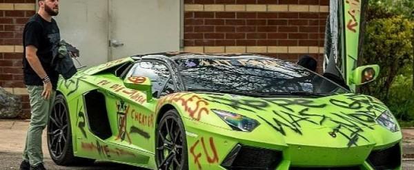 Vandalized Lamborghini Aventador Cheater Wrap Is Pure