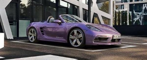 Viola Purple Metallic Porsche 718 Boxster S Is Mid Engined