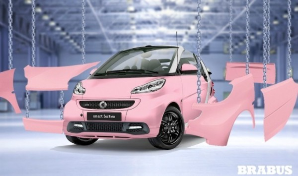 Smart Brabus pink and black