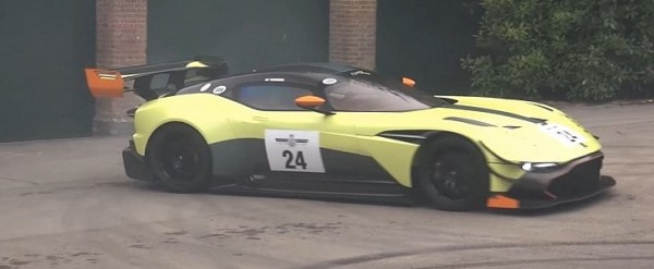Watch The Aston Martin Vulcan Amr Pro Do Burnouts At