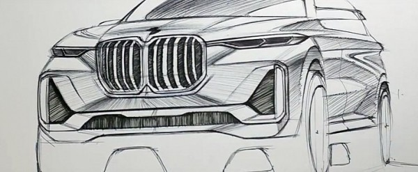 Watch The Bmw X7 Iperformance Concept Being Sketched With A Ballpen
