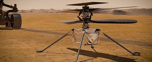 World's First Helicopter to Travel to Space Powers Up En ...