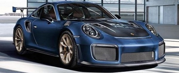 Yachting Blue Metallic Porsche 911 GT2 RS with Espresso