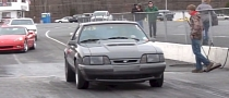 10-Second Fox-Body Mustang Tows Trailers to the Drag Strip [Video]