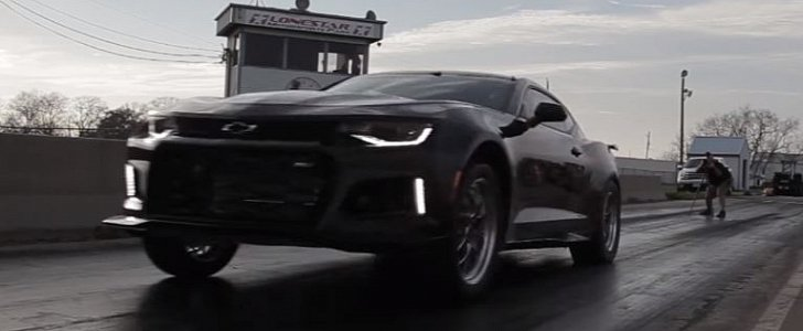 1 000 Hp Hennessey Exorcist Camaro Zl1 Beats Dodge Demon With 9 57s 1 4 Mile Run Autoevolution