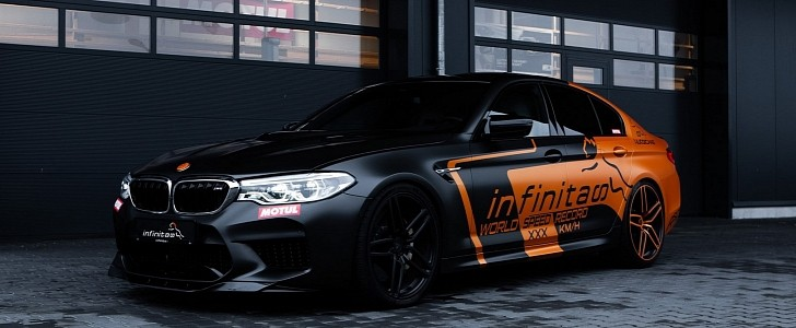 1,000PS+ Infinitas Hurricane BMW M5 Prototype Has a Bit of Wind Noise at 194 MPH