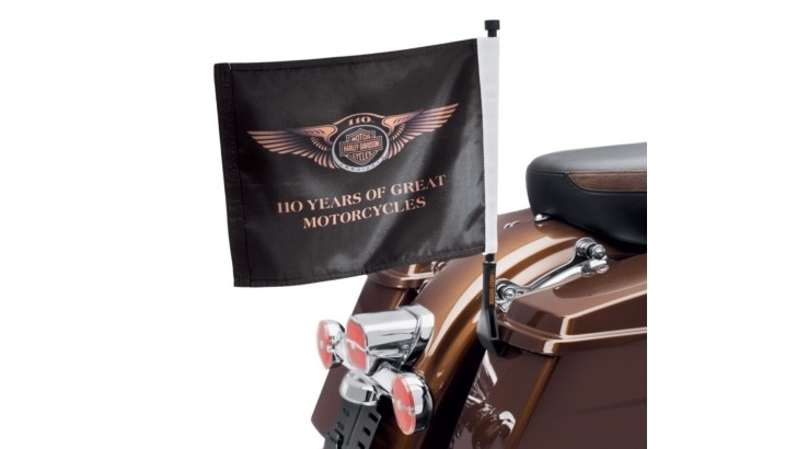 110th Anniversary Harley-Davidson Flags Available