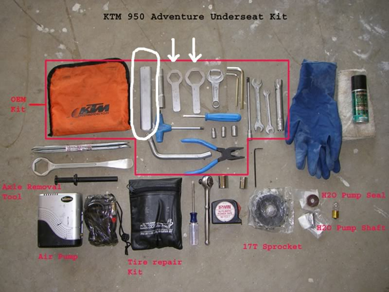 Ktm Dirt Bike Tool Kit In Bag