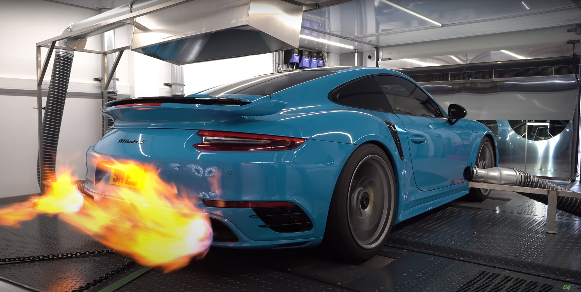 photo of 1,355HP Porsche 911 Turbo S Sleeper Testing on the Dyno Is an Arsonist's Dream image