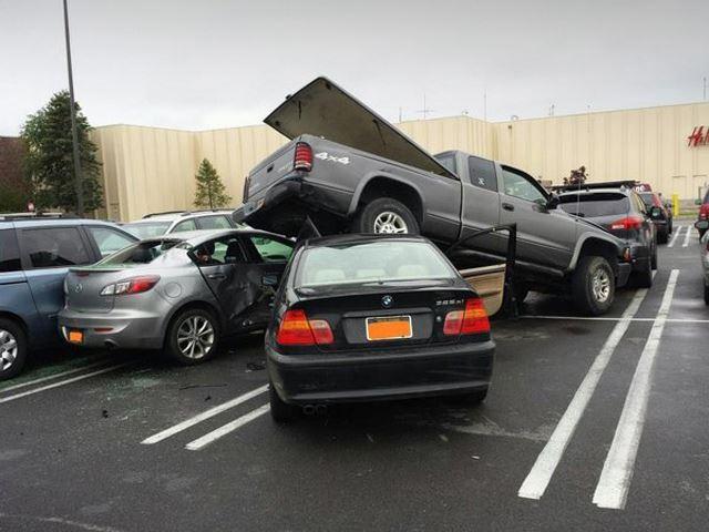 Douchebag Parking Old Car