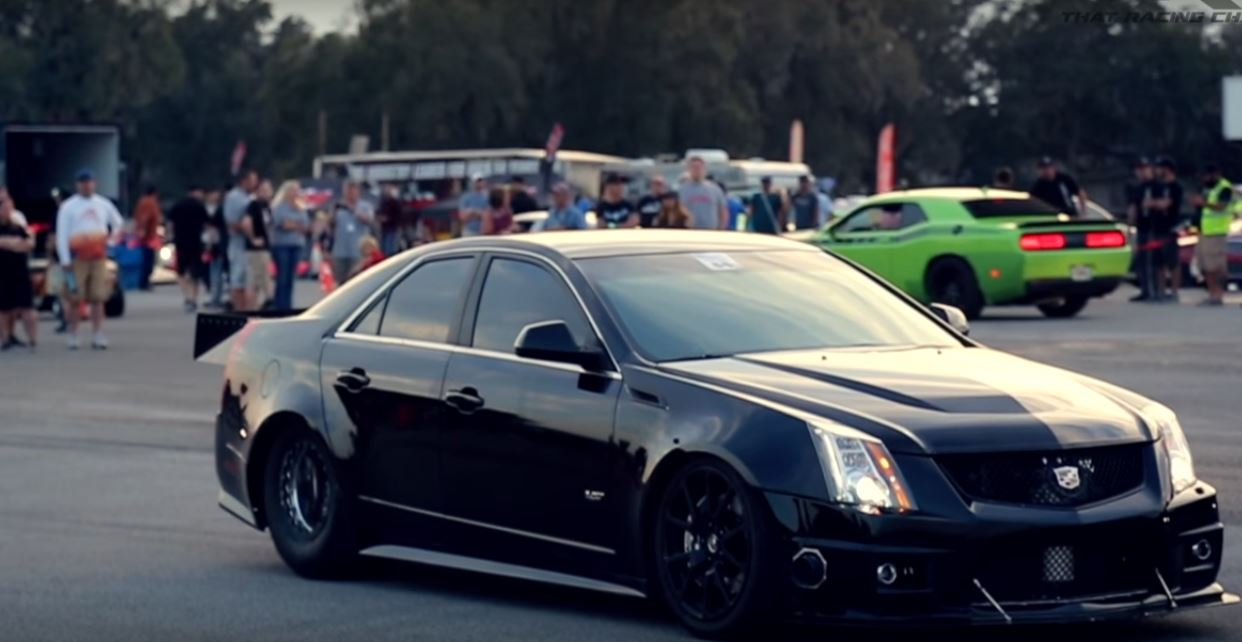 1,500 HP Stick Shift Cadillac CTS-V Sets 1/2-Mile World Record with