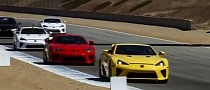 16 Lexus LFA Supercars Lap Laguna Seca [Video]