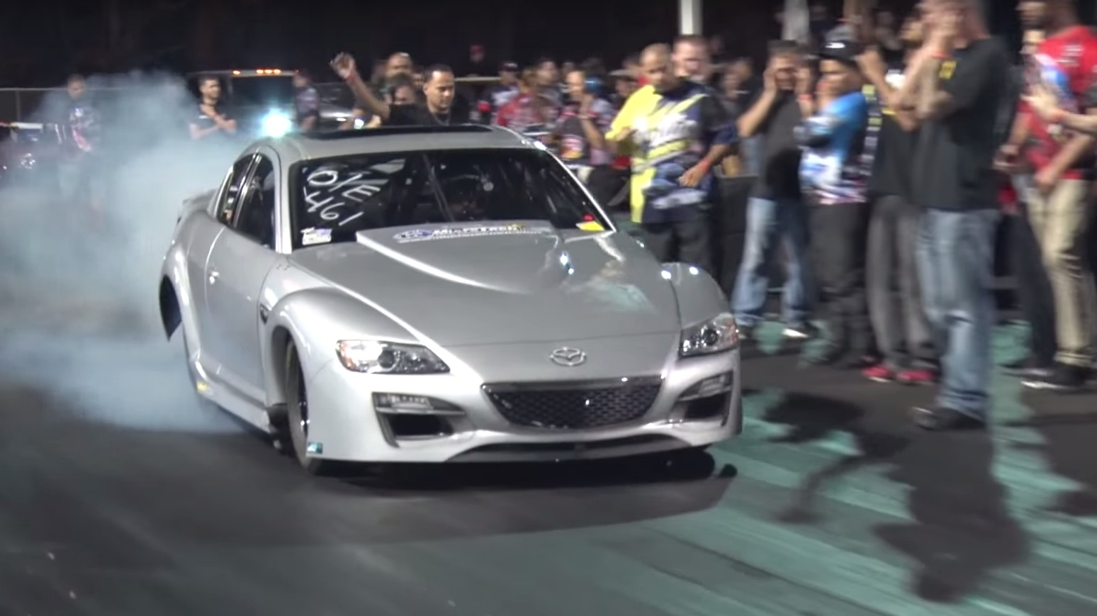 1,600 HP Tri-Turbo Mazda RX-8 Sounds like the Wankel from Hell