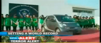 19 Girls Cram into a smart for Guinness Record [Video]