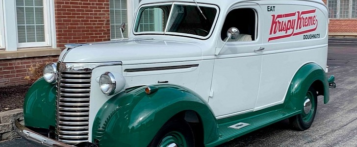 1940 Chevrolet Panel Truck in Krispy Kreme Livery Is One Enticing Proposition