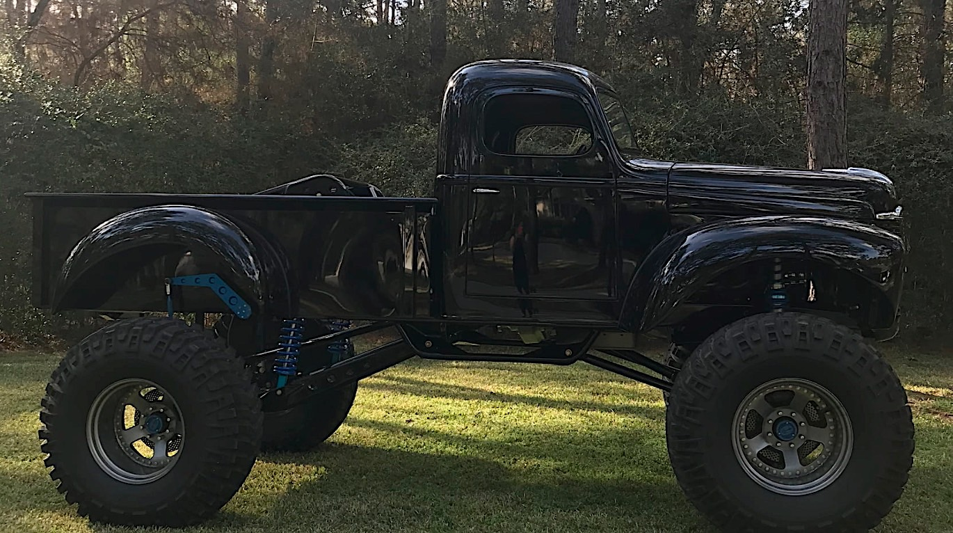 1948 International Kb3 Pickup Turns Into A Literal Monster Autoevolution