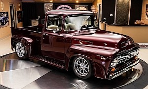 1956 Ford F-100 Is $190K-Worth of Brand New Supercharged Coyote Muscle