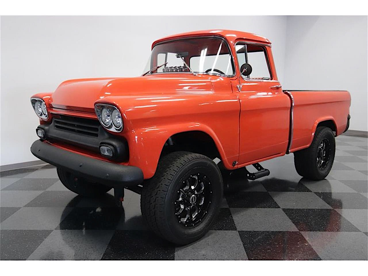 1958 Chevrolet Cameo Dates 1957 Gmc Chassis And This Is Their Red And Black Baby Autoevolution