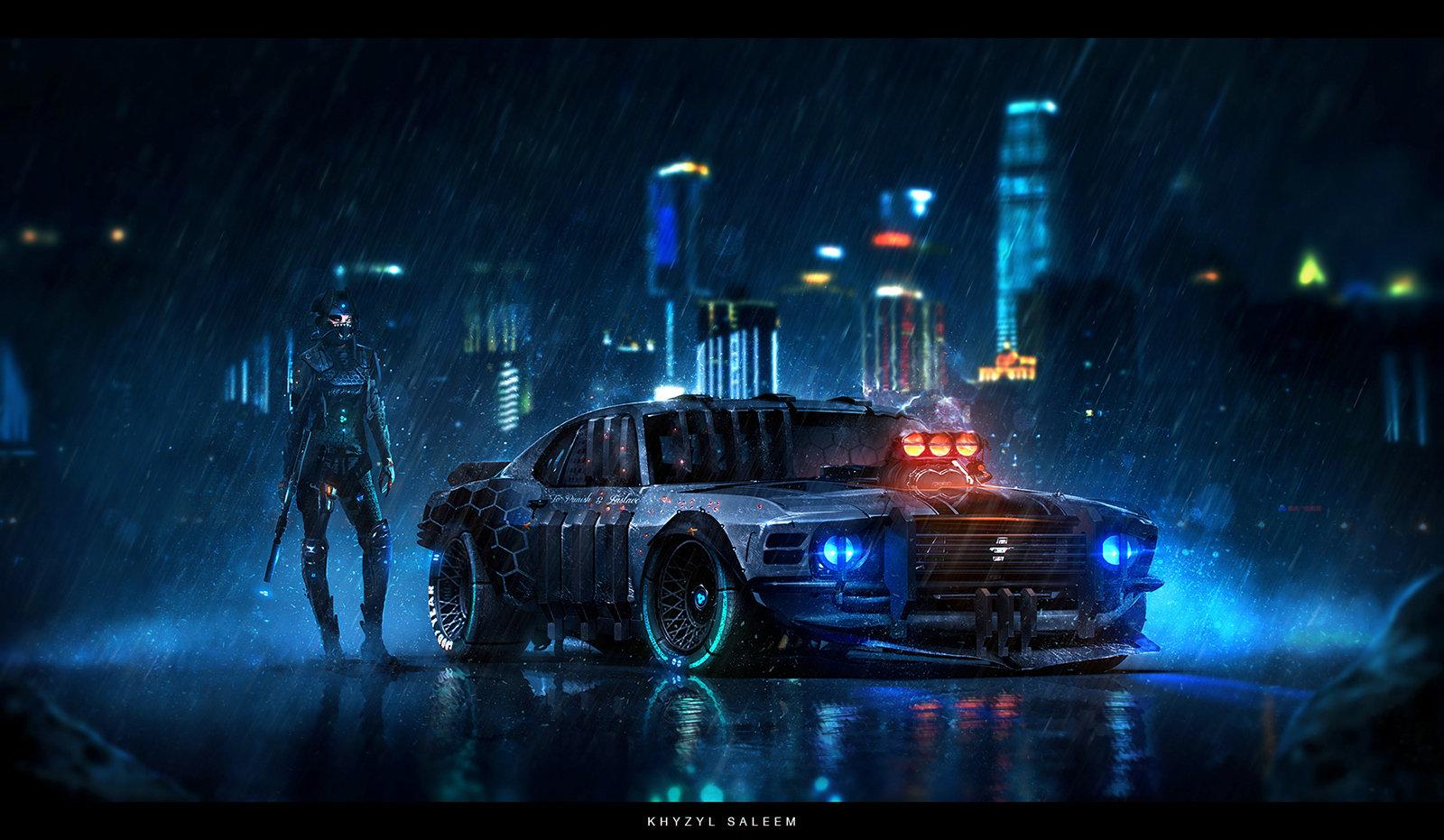 Ford mustang mach 1 police car rendering