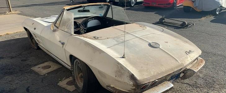 1963 Chevrolet Corvette Barn Find Looks Like It's Been ...