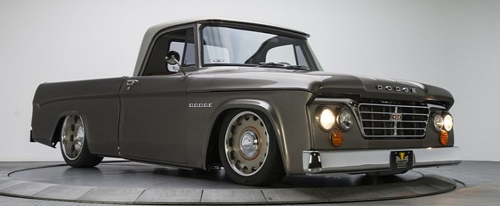1965 Dodge D100 Restomod Brags With Ridetech Air Ride Suspension Autoevolution