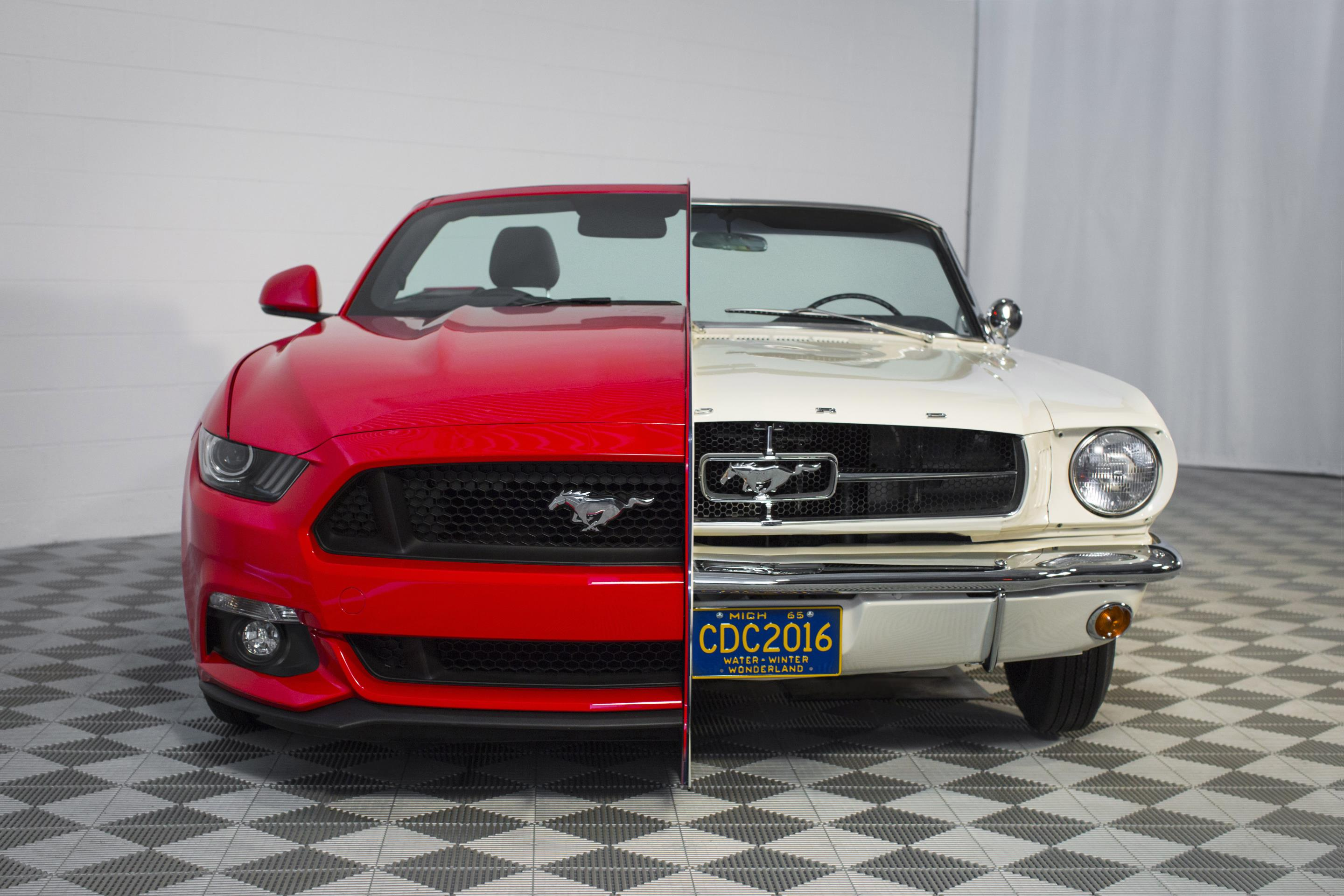 Mustang Vs Camaro >> 1965 Mustang Conjoined with 2015 Mustang for Art's Sake - autoevolution