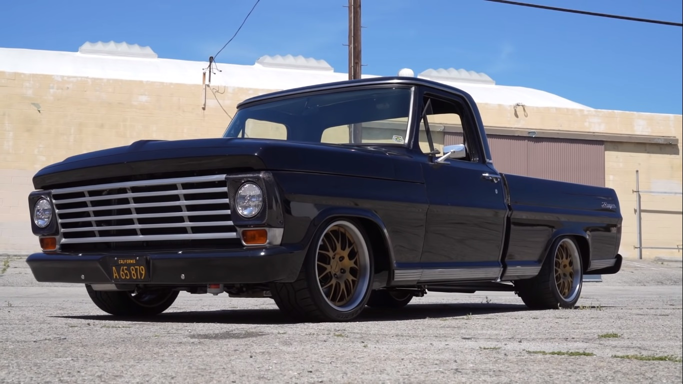 1967 Ford F 100 Coyote V8 Pro Touring Truck Roasts Tires Better Than Hauling Hay Autoevolution