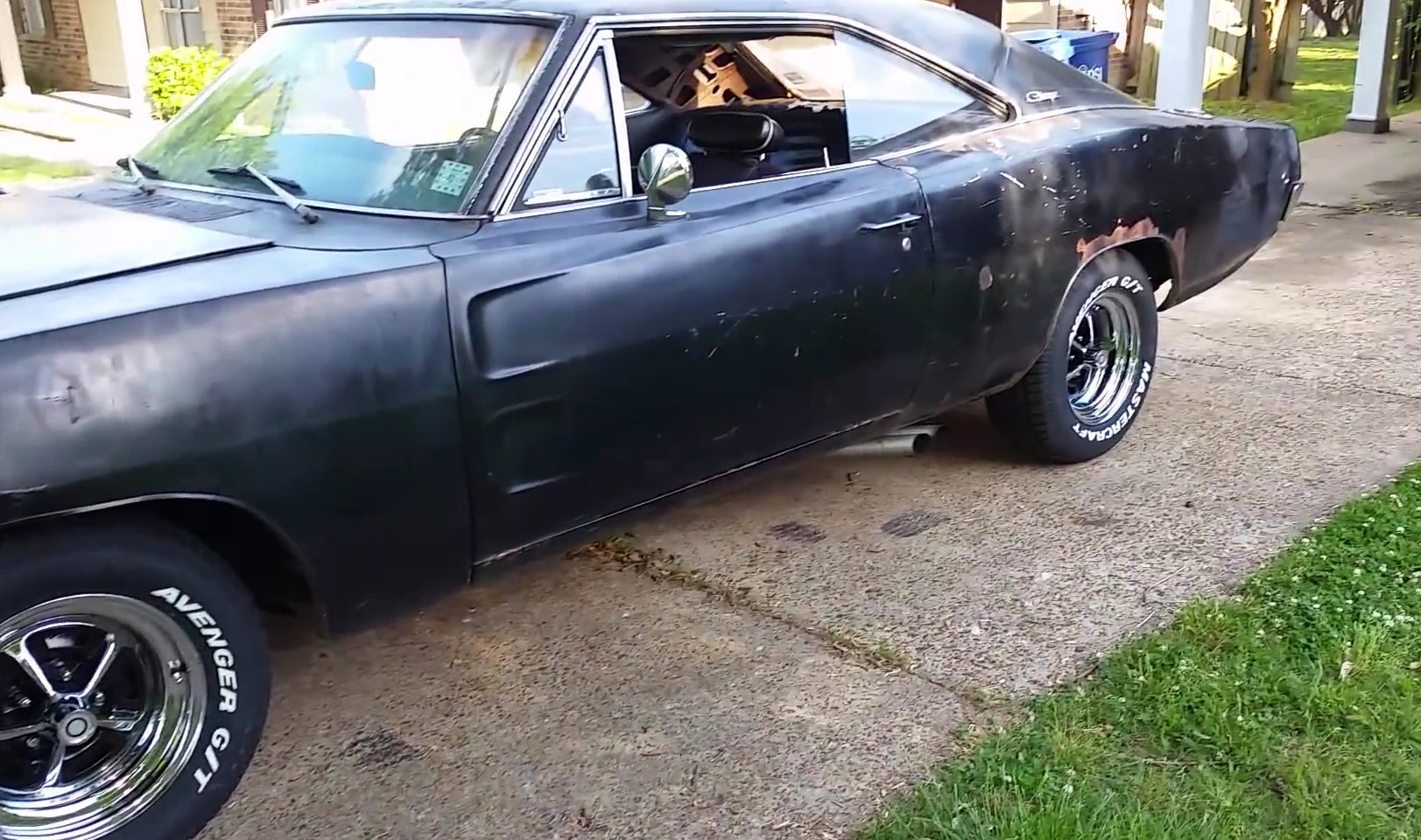 1968 Dodge Charger Revived 5 Years Ago Driver Enjoying His Muscle