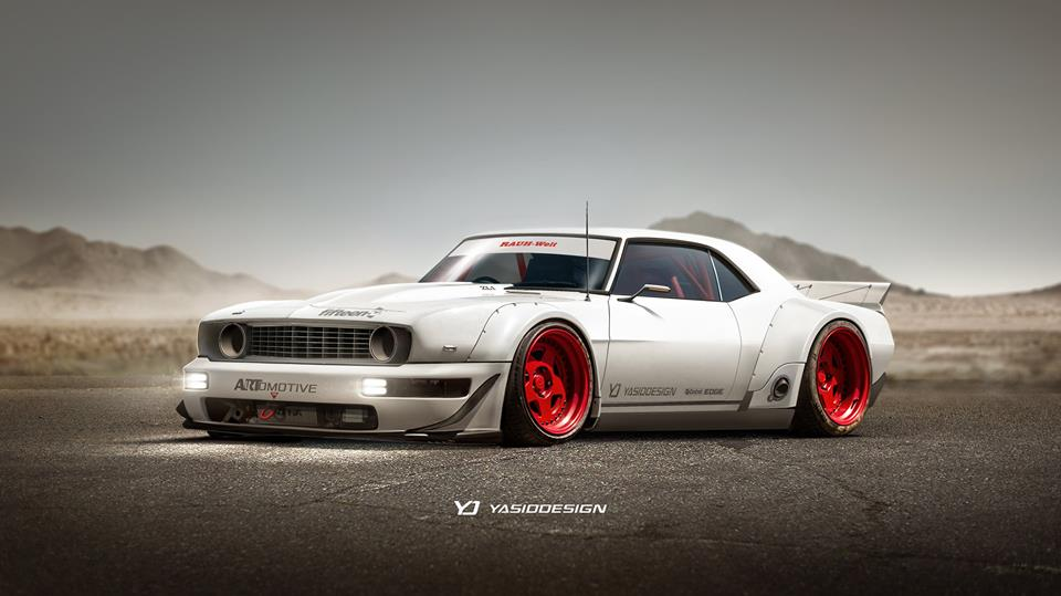 1969 Camaro Zl1 Gets Porsche 911 Bumper Rwb Widebody In