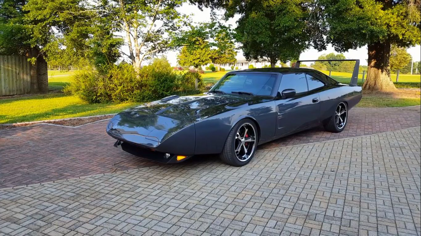 1969 Dodge Charger Daytona Revival Is Actually A Modern Charger Srt 8 Autoevolution