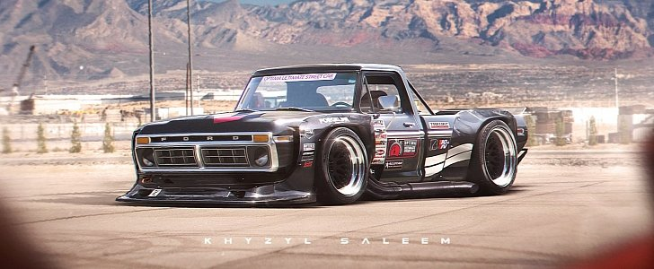 1970s ford f series with toyota ae86 n2 wide body kit. Black Bedroom Furniture Sets. Home Design Ideas