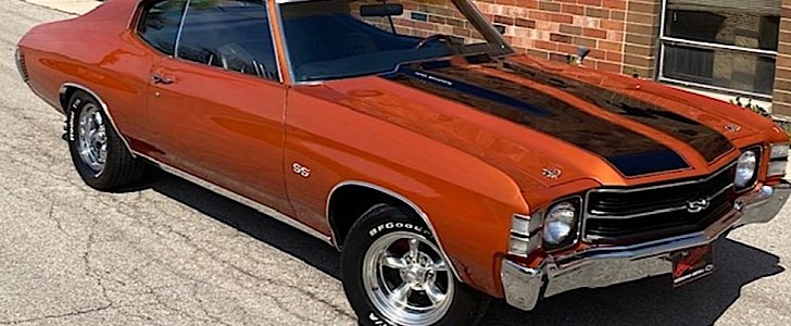 1971 Chevy Chevelle Ss Tribute Is The Mango Tango Treat Of The Day Autoevolution