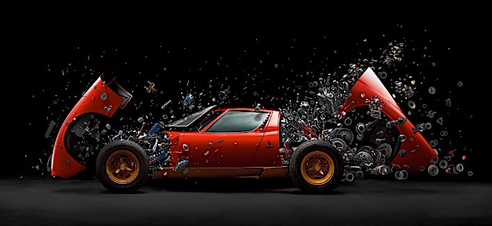 1972 Lamborghini Miura Explodes Into Thousands Of Parts In Stunning