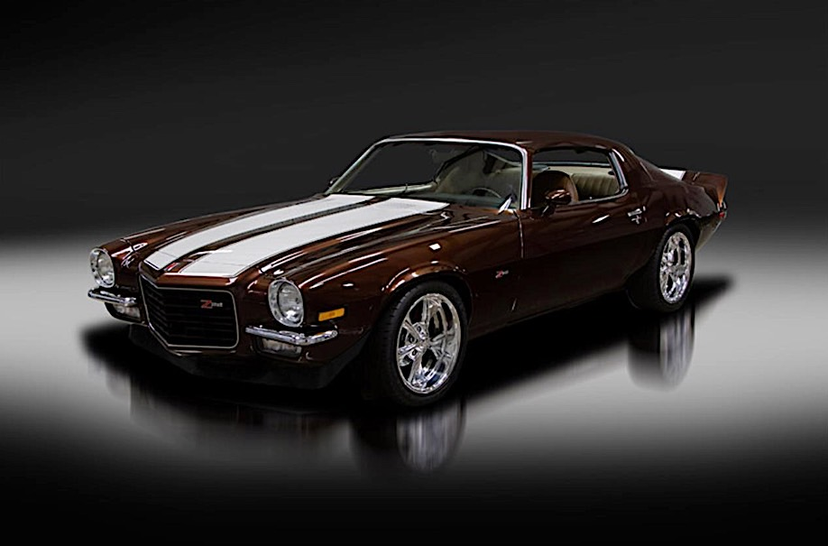 """1973 Camaro Z28 >> 1973 Chevrolet Camaro Z28 with Toyota Tundra Paint Gets Named """"Root Beer Float"""" - autoevolution"""