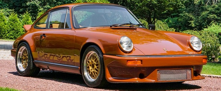 photo of 1975 Porsche 911 R-Gruppe Outlaw Is a Cockney Brown Dream image