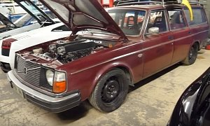 1975 Volvo Wagon Gets Lamborghini V10 in Crazy Engine Swap