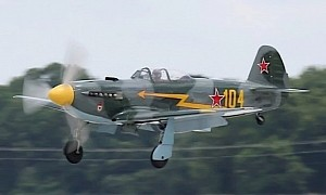1997 Yakovlev Yak-9 in Russian WWII Overalls Is a Scary Sight in American Skies