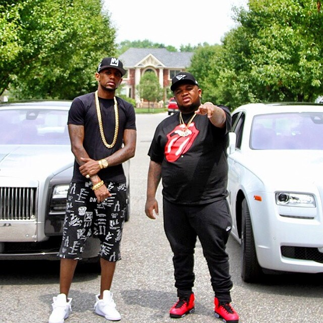 2 rollsroyce ghosts and 2 rappers fabolous and dj