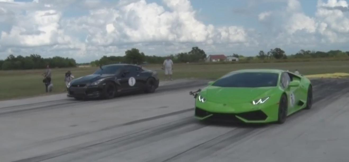 2,000 hp lambo huracan twin-turbo undeground racing debuts, races