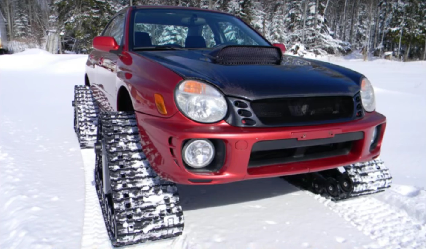 Truck Mud Tires >> 2002 Subaru Impreza WRX Tackles Snow Using Four Tracks - autoevolution