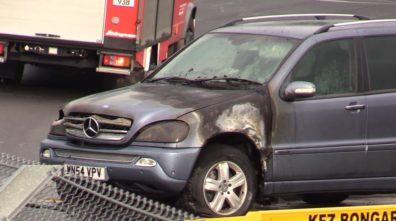 2004 Mercedes Ml 270 Diesel Burns On The Nurburgring