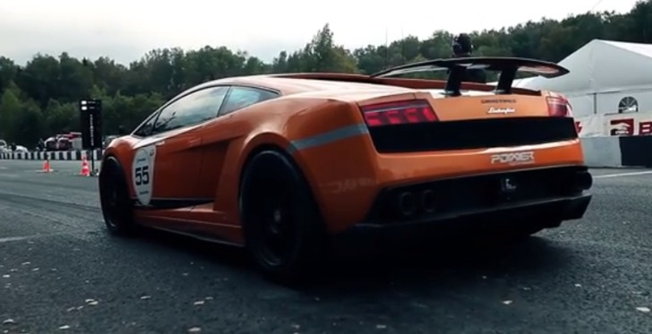 2005 HP Lamborghini Sets 402 KM/H Record, Catches Fire [Video]