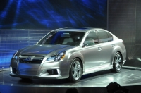 2010 Subaru Legacy on display at the 2009 NAIAS