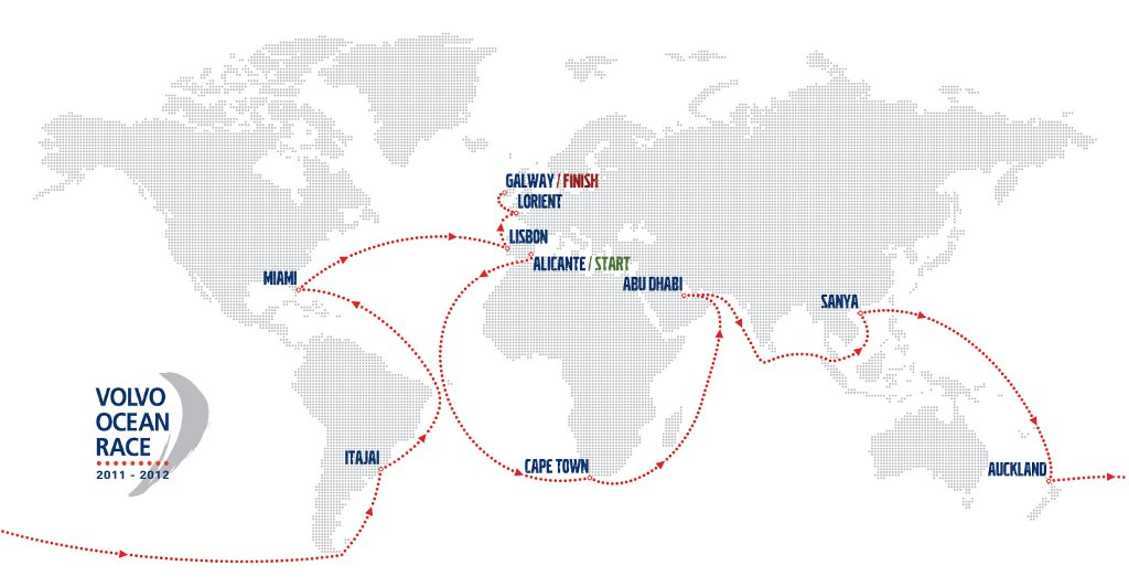 2011 12 Volvo Ocean Race Full Schedule Announced