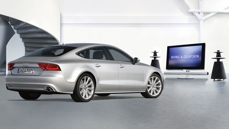 2011 audi a7 sportback gets bang olufsen advanced sound. Black Bedroom Furniture Sets. Home Design Ideas
