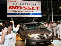 HMA celebrating production launch of the 2011 Odyssey