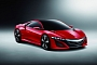 2012 Acura NSX Concept Painted Red for Beijing